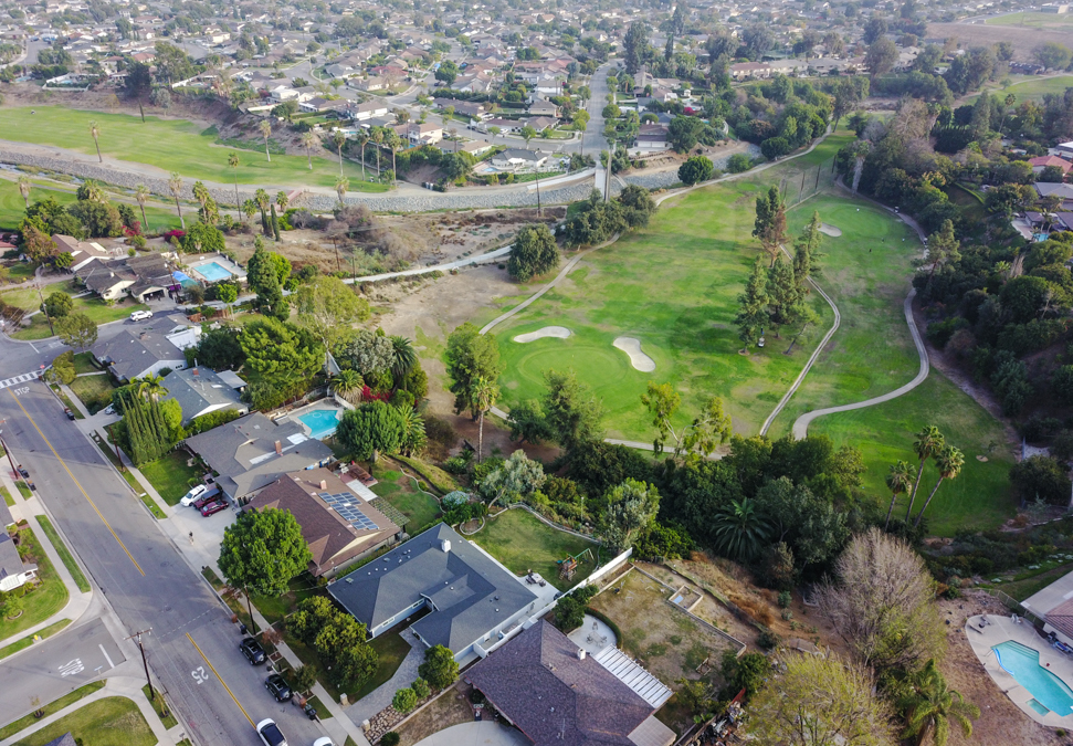 Sunny Hills Ranch Home Overlooking 4th Hole of Fullerton Golf Course