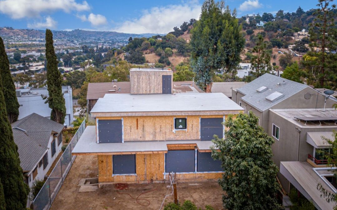 Mid Construction Silver Lake View Home